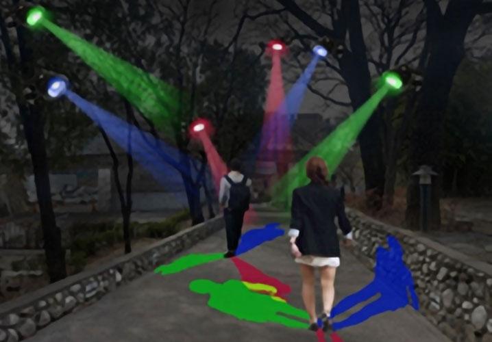 청라언덕 선교사의 비밀정원 - 색유리그림자 사진